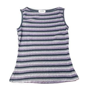 A.  Byer Women Sleeveless Multi Color Top Sized M